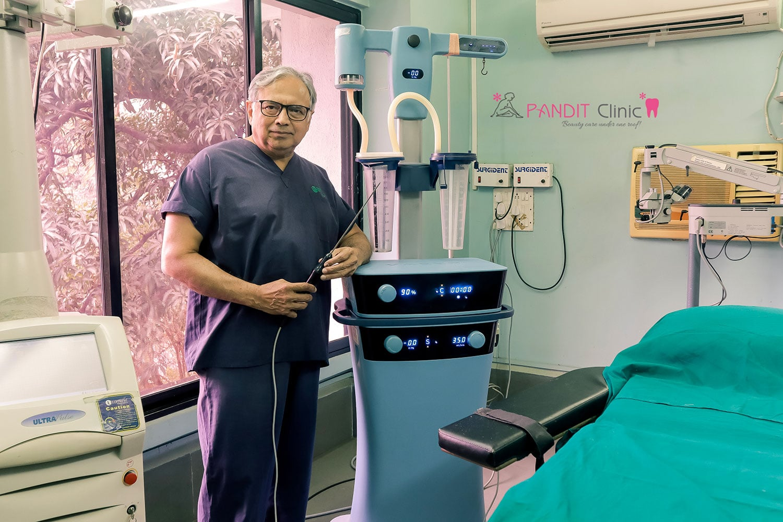 Dr Shrirang Pandit laser machine setup