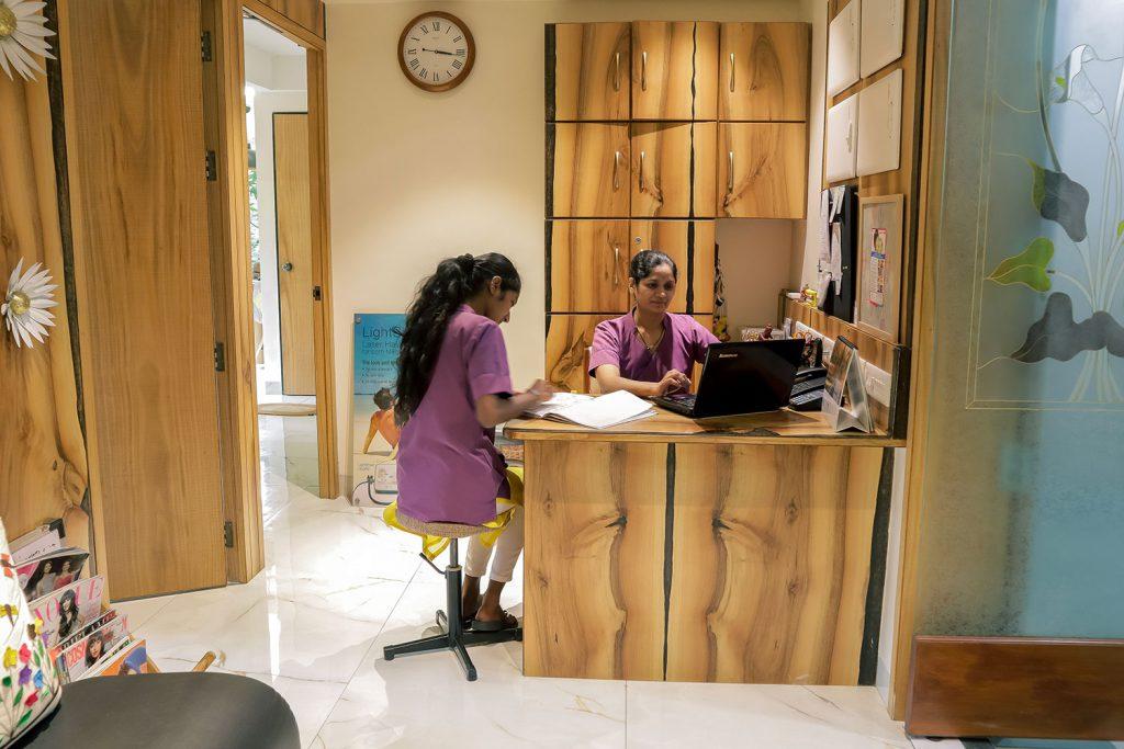 Pandit Clinic Front Desk click