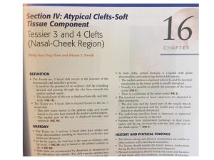 Atypical clefts soft tissue component