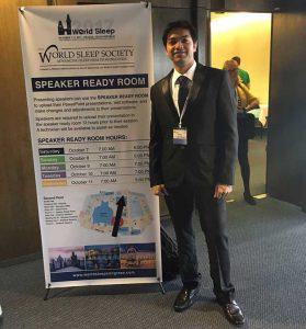 Dr. Vikram at World-Sleep-Congress