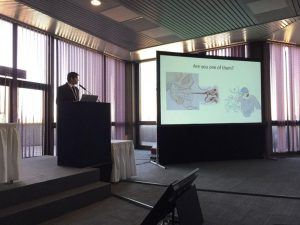 Dr. Vikram presenting in World-Sleep-Congress